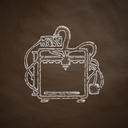 three d: three d printer icon