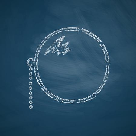 myopia: monocle icon Illustration