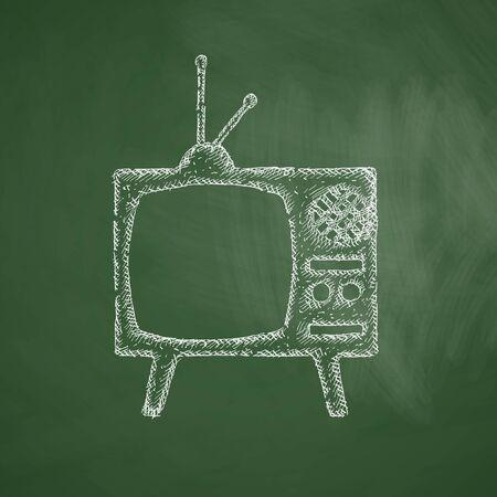 television antigua: viejo icono de tv Vectores