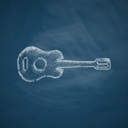 plucking: guitar icon