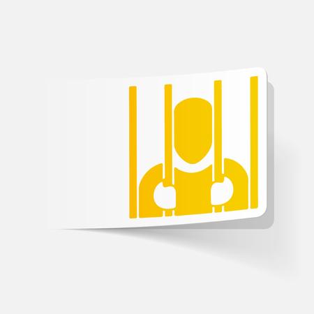 iron barred: realistic design element. prisoner Illustration
