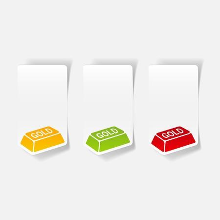 bullion: realistic design element. bullion gold Illustration