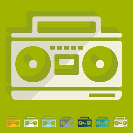 grabadora: Dise�o plano: grabadora de cassette