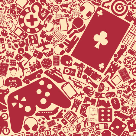 gaming: vector background of the flat gaming icons