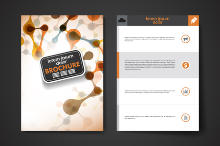 alternating organic: Set of brochure, poster templates in DNA molecule style. Beautiful design and layout Illustration