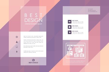 brochure cover: Set of brochure, poster templates in abstract style. Beautiful design and layout