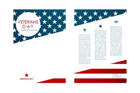 Ensemble de brochure, des modèles d'affiches dans les anciens combattants style de jour. Belle conception et l'agencement Illustration