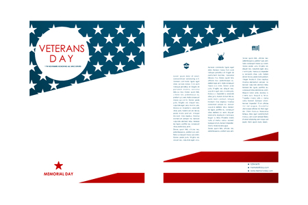 background information: Set of brochure, poster templates in veterans day style. Beautiful design and layout