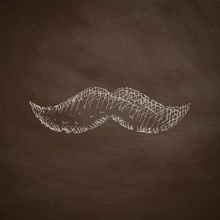 lithography: mustache icon