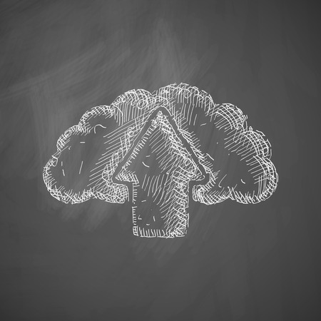 lithography: cloud icon Illustration