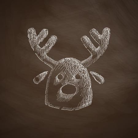 christmas deer: christmas deer icon