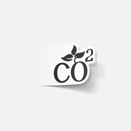 co2: realistic design element: co2 sign dioxide
