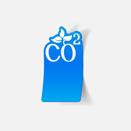 environmental analysis: realistic design element: co2 sign dioxide