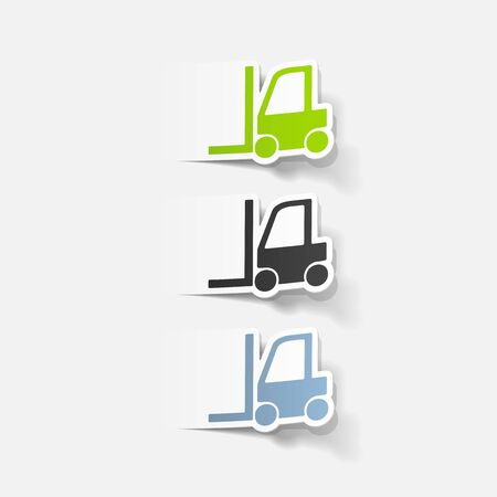 warehousing: realistic design element: forklift Illustration