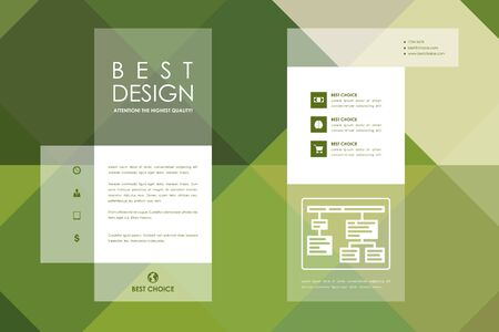 blank template: Set of brochure, poster templates in abstract style. Beautiful design and layout