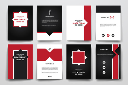 page layout: Set of brochure, poster templates in sale style. Beautiful design and layout