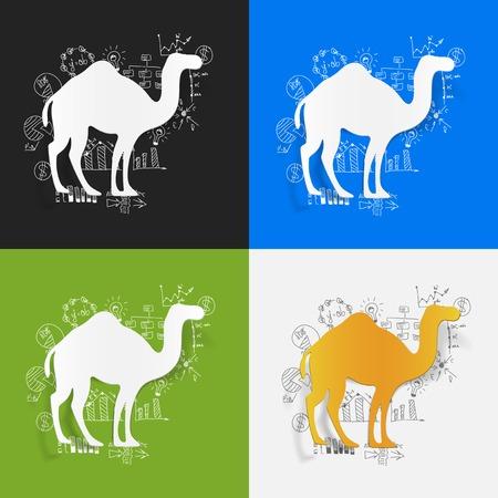 formulas: Drawing business formulas: camel Illustration