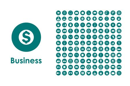 business it: It is a set of business simple web icons Illustration