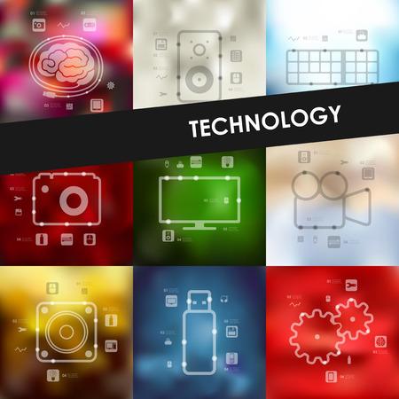 unfocused: technology timeline presentations with blurred unfocused background
