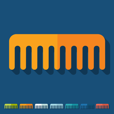 comb: Flat design: comb Illustration