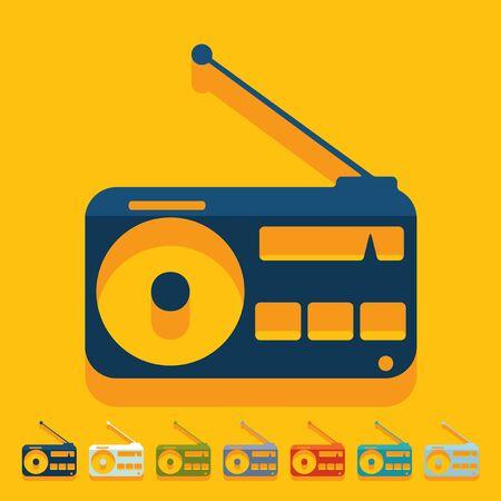 Flat design: radio