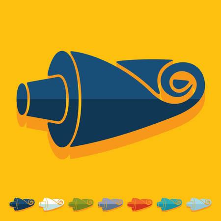 the tube: Flat design: tube
