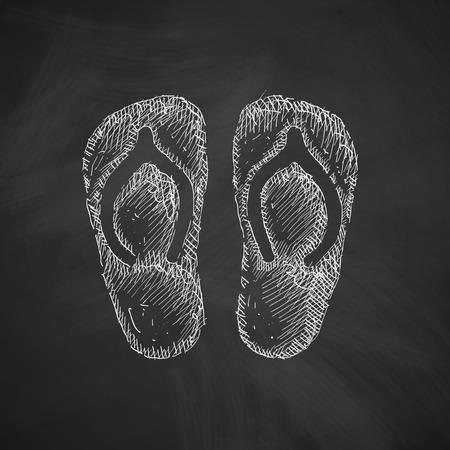 flipflops: slippers icon