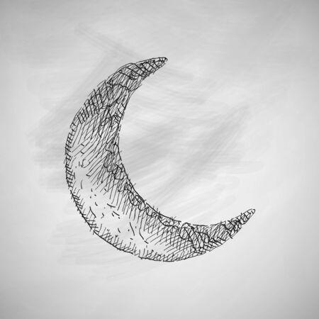 muslim prayer: moon icon