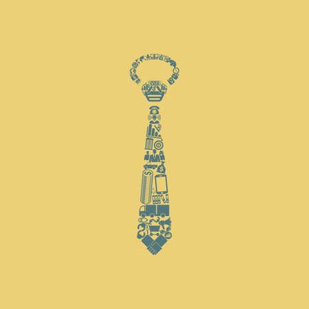 cloud clipart: tie icon Illustration