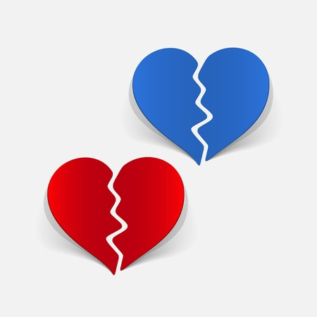 corazon roto: realista elemento de dise�o: coraz�n roto