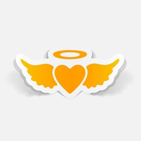 seducer: realistic design element: heart angel