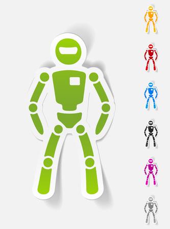 realistic design element. robot Illustration