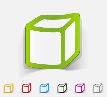 tridimensional: realistic design element. cube