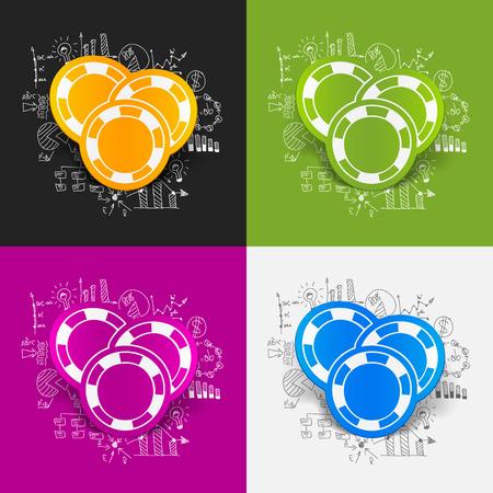 fichas de casino: Drawing business formulas: casino chips