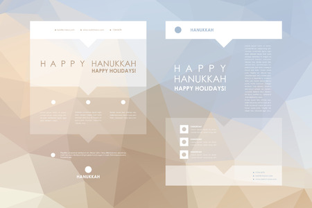 background information: Set of brochure, poster templates in Hanukkah style. Beautiful design and layout Illustration