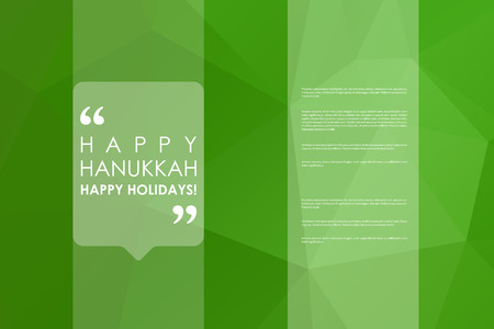 hanukah: Set of brochure, poster templates in Hanukkah style. Beautiful design and layout Illustration