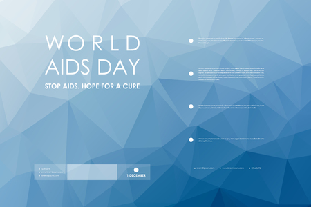 Set of brochure, poster templates in World AIDS Day style. Beautiful design and layout Imagens - 48325381