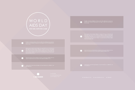 hiv awareness: Set of brochure, poster templates in World AIDS Day style. Beautiful design and layout
