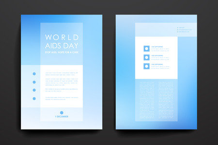 aids virus: Set of brochure, poster templates in World AIDS Day style. Beautiful design and layout
