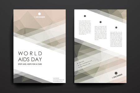 immunodeficiency: Set of brochure, poster templates in World AIDS Day style. Beautiful design and layout
