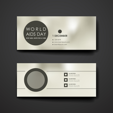 immunodeficiency syndrome: Set of modern design banner template in World AIDS Day style. Beautiful design and layout