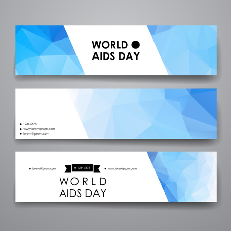 aids virus: Set of modern design banner template in World AIDS Day style. Beautiful design and layout