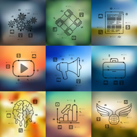 unfocused: marketing timeline presentations with blurred unfocused background