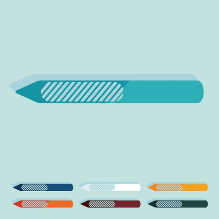 nail file: Flat design: nail file Illustration