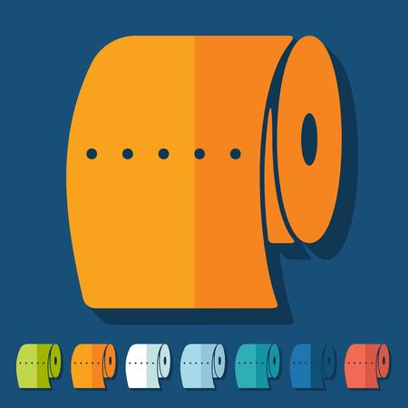 papel higienico: Diseño plano: papel higiénico