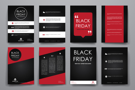 sales book: Set of brochure, poster templates in sale style. Beautiful design and layout