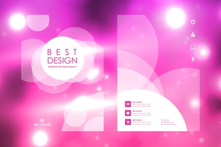 bases: Set of brochure, poster templates in neon molecule structure style. Beautiful design and layout