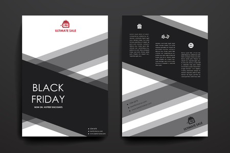 broshure: Set of brochure, poster templates in sale style. Beautiful design and layout