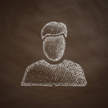 men standing: man icon Illustration