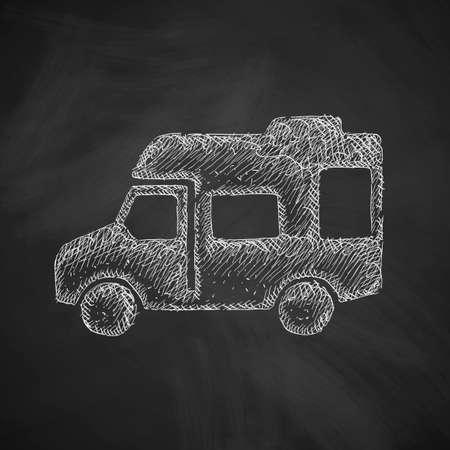 motorhome: motorhome icon Illustration